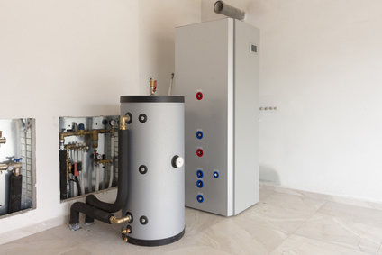 A Geothermal Heat Pump and a Hot Water Heater