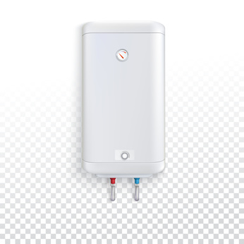 an illustration of a tankless water heater