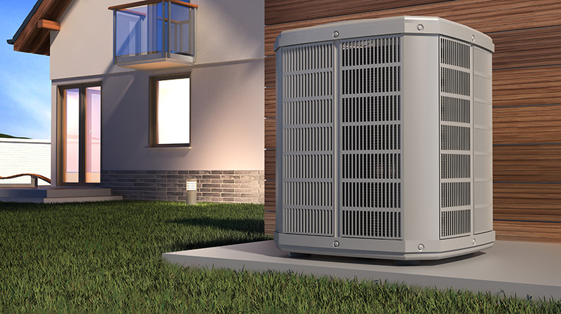 a digital rendering of a heat pump